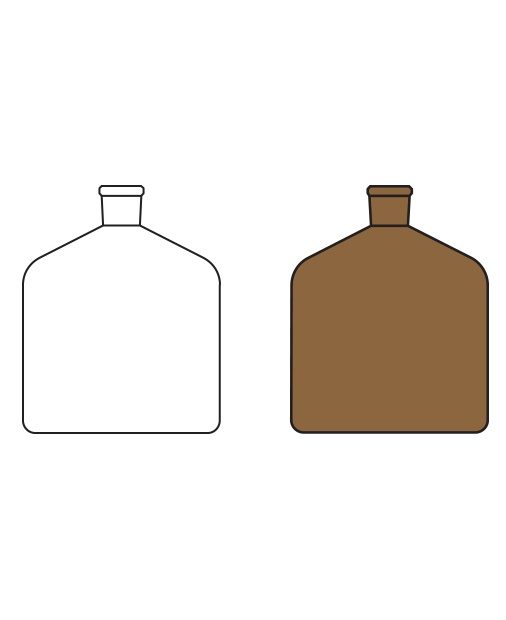 Büret şişesi, Amber ve Şeffaf