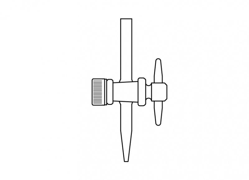 Büret uç musluğu, PTFE