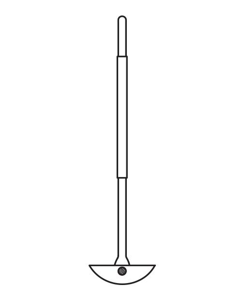 Karıştırma şaftı, PTFE uçlu